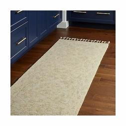 "Stone & Beam Heidi Floral Farmhouse Wool Runner Rug, 2' 6"" x"
