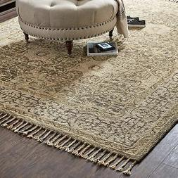 Stone & Beam Kelsea Vintage-Inspired, Tassled Wool Area Rug,
