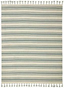 "Stone & Beam Los Altos Striped Dhurrie Area Rug, 5' x 7'6"","