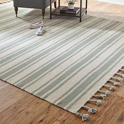 "Stone & Beam Los Altos Striped Dhurrie Area Rug, 8' x 10'6"","