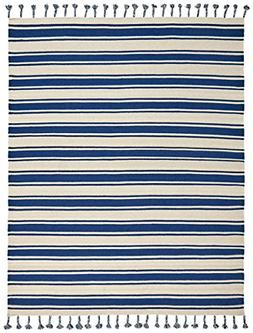 "Stone & Beam Los Altos Striped Dhurrie Area Rug, 4' x 6'6"","