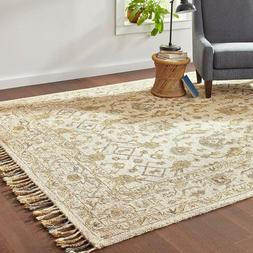 Stone & Beam Lottie Traditional Wool Area Rug, 8 x 10 Foot,
