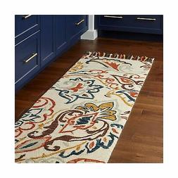 Stone & Beam Swirling Paisley Farmhouse Motif Wool Runner Ru