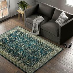 "Stone & Beam Traditional Royal Area Rug, 5' 3""X 7' 3"", Teal"