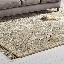 Stone & Beam Vero Medallion Wool Area Rug, 8' x 10', Neutral