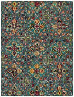 "Stone & Beam Vinton Persian Area Rug, 5' x 7'6"", Teal Multi"