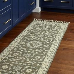 "Stone  Beam Barnstead Floral Wool Runner Rug, 2' 6"" x 8', Ch"