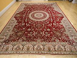 Stunning Silk Persian Area Rugs 8x11 Traditional Large Rugs