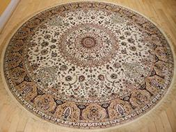 Stunning Silk Rug Persian Traditional Area Rugs Round Rugs L