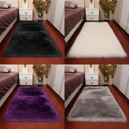 Stylish Anti-Skid Fluffy Rug Shaggy Area Living Room Carpet