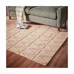 Rivet Sunset Textured Geo Pattern Wool Area Rug, 8' x 10', P