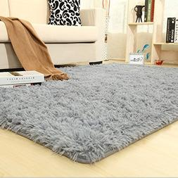 Super Soft Silky Bedroom Rug Living Room Carpet Rug Pure Col