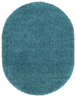Sweethome Stores COZY2766-OVAL Shaggy Rug, 5'3 X 7' Oval, Tu