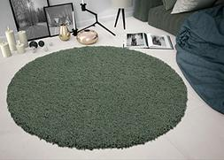 Sweethome Stores COZY6506-ROUND Shaggy Rug, 5'3 Round, Teal
