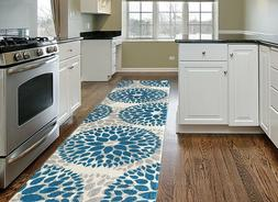 Throw Rug Long Runner Floral Living Room Kitchen Hall Entry