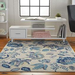 Nourison TRA02 Tranquil Eclectic Floral Ivory/Light Blue Are