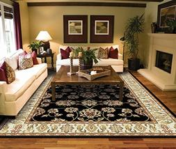 Traditional Black Area Rugs for Living Room Area Rugs 5x7 cl