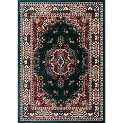 Traditional Floral Hunter Green Area Rug Home Decor Rug Pers