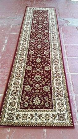 Traditional Long Persian Runner Area Burgundy Design 601