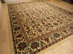 Traditional All Over Area Rug Carpet 8x10 Cream Rugs 5x8
