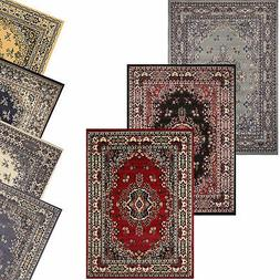 Traditional Oriental Medallion Area Rug Persian Style Carpet