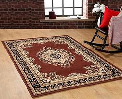 Furnish my Place Traditional Oriental Medallion Area Rug Per