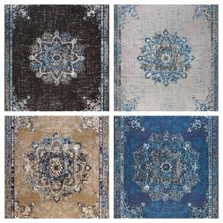 traditional oriental medallion distressed area rug 8x10