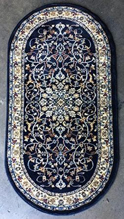 Deir Debwan Traditional Oval Persian Area Rug 330,000 Point