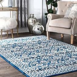 nuLOOM Traditional Persian Vintage Dark Blue Rug  - 5' x 7'5