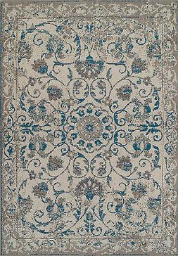 Traditional Rugs 8x10 Blue Gray Distressed Persian Rug 5x8 V
