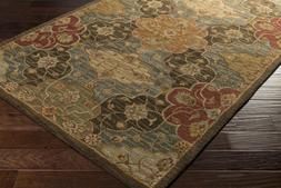 Traditional Transitional Plush Hand Hooked Wool Area Rug **F
