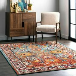 nuLOOM Traditional Transitional Vintage Floral Mallory Multi