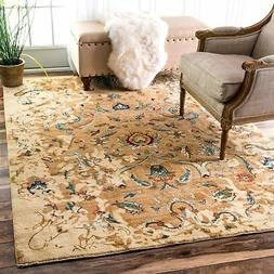 nuLOOM ECES04A Sebrina Blossom Area Rug, 8' x 10', Beige