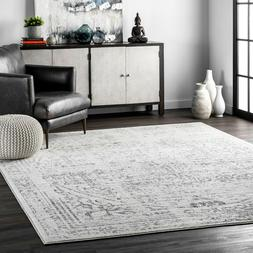 nuLOOM Traditional Vintage Distressed Abstract Area Rug in G