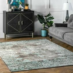 nuLOOM Traditional Vintage Distressed Corene Area Rug in Gra