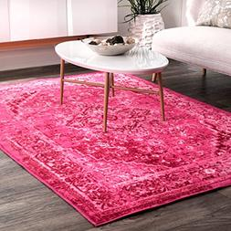 nuLOOM Traditional Vintage Inspired Overdyed Fancy Rug