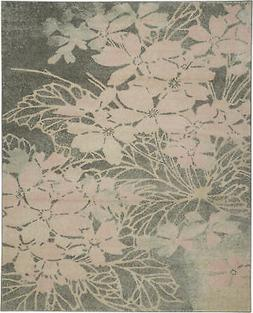 Nourison Tranquil 8' X 10' Grey And Pink Area Rugs 099446486