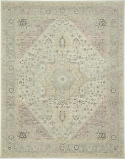 Nourison Tranquil 8' X 10' Ivory And Pink Area Rugs 09944648