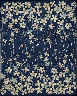 Nourison Tranquil 8' X 10' Navy Area Rugs 099446484475