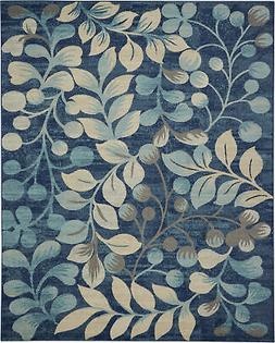 Nourison Tranquil 8' X 10' Navy Area Rugs 099446484031