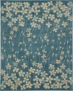 Nourison Tranquil 8' X 10' Turquoise Area Rugs 099446484949