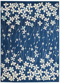 Nourison Tranquil Navy Blue 4'x6' Area Rug 099446484406