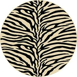Universal Rugs Transitional Animal 5 ft. 3 in. Round Area Ru