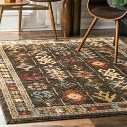 nuLOOM Transitional Transitional Tribal Wilma Area Rug in Br