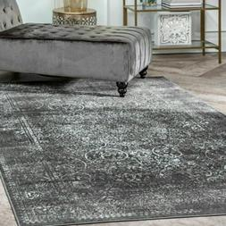 nuLOOM Transitional Vintage Delores Area Rug in Dark Gray