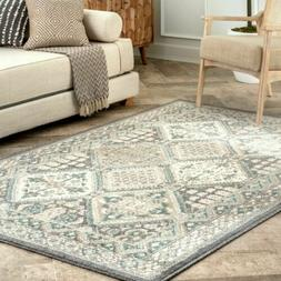 nuLOOM Transitional Vintage Tile Becca Area Rug in Charcoal