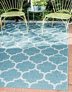 Unique Loom Outdoor Trellis Collection Traditional Geometric