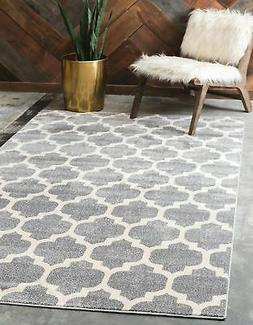 Unique Loom Trellis Collection Moroccan Lattice Dark Gray Ar