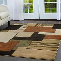 "Home Dynamix Tribeca Mason 5'2""x7'2"" Area Rug in Brown/Green"
