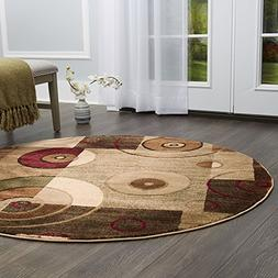 "Home Dynamix Tribeca Hiram Area Rug 5'2"" Round, Abstract Mul"